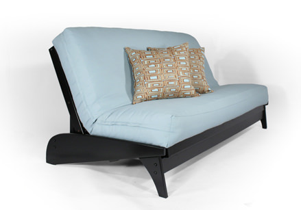 dillon black full wall hugger futon frame by strata furniture