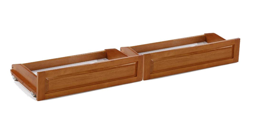 universal futon storage drawers full size 2 pcs medium oak
