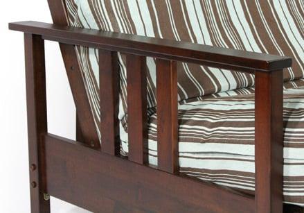 durango dark cherry twin chair wall hugger futon frame by strata furniture durango dark cherry twin chair wall hugger futon frame by strata      rh   futonland