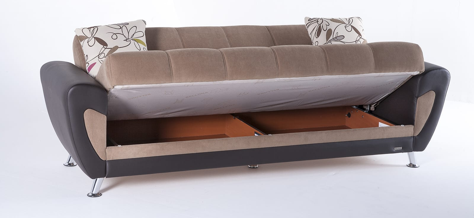 Duru Optimum Brown Convertible Sofa Bed by Sunset