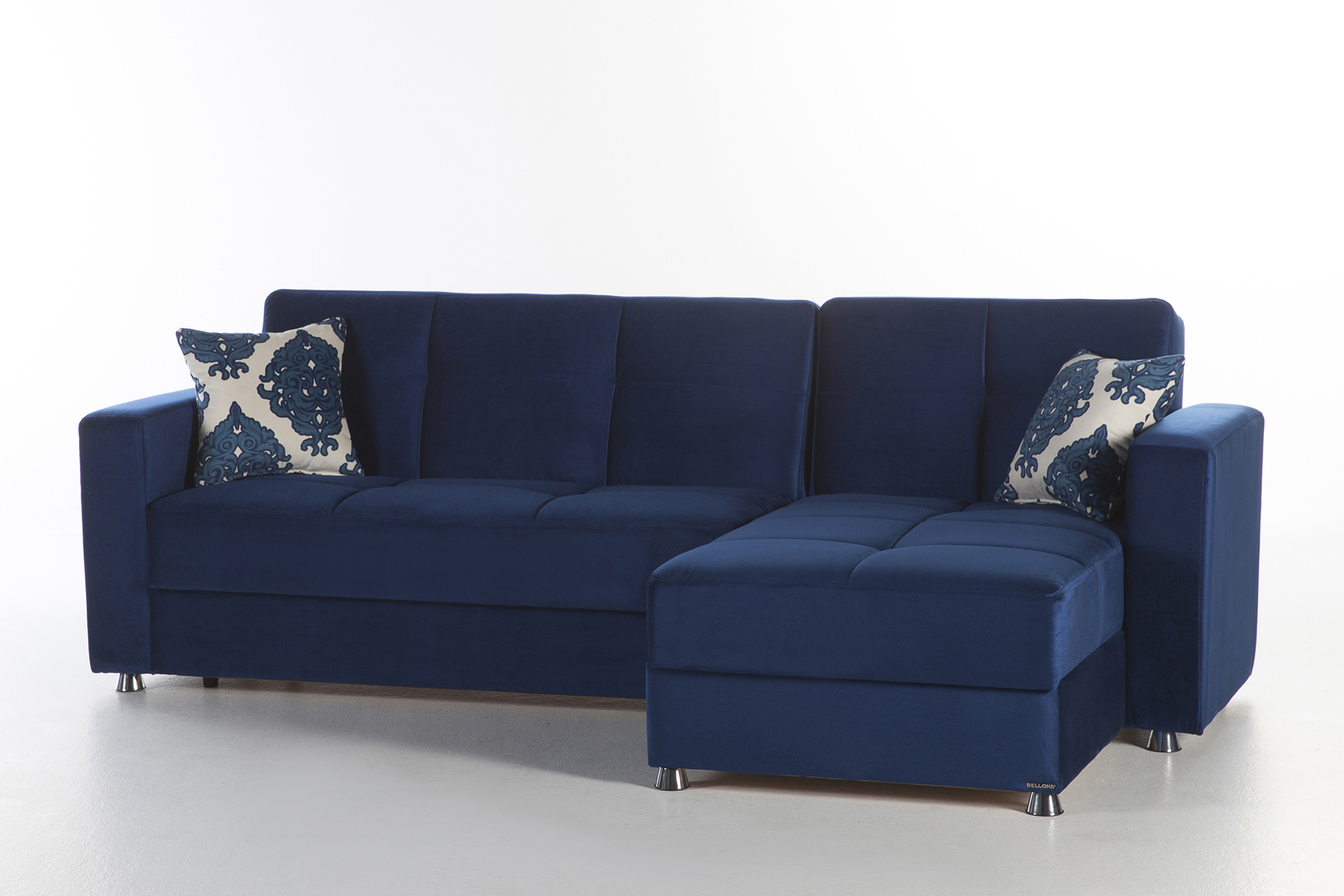 Elegant Roma Navy Sectional Sofa by Sunset