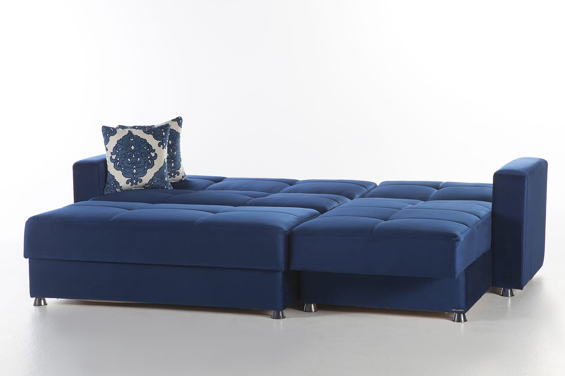Elegant Roma Navy Sectional Chair & Ottoman Set by Sunset