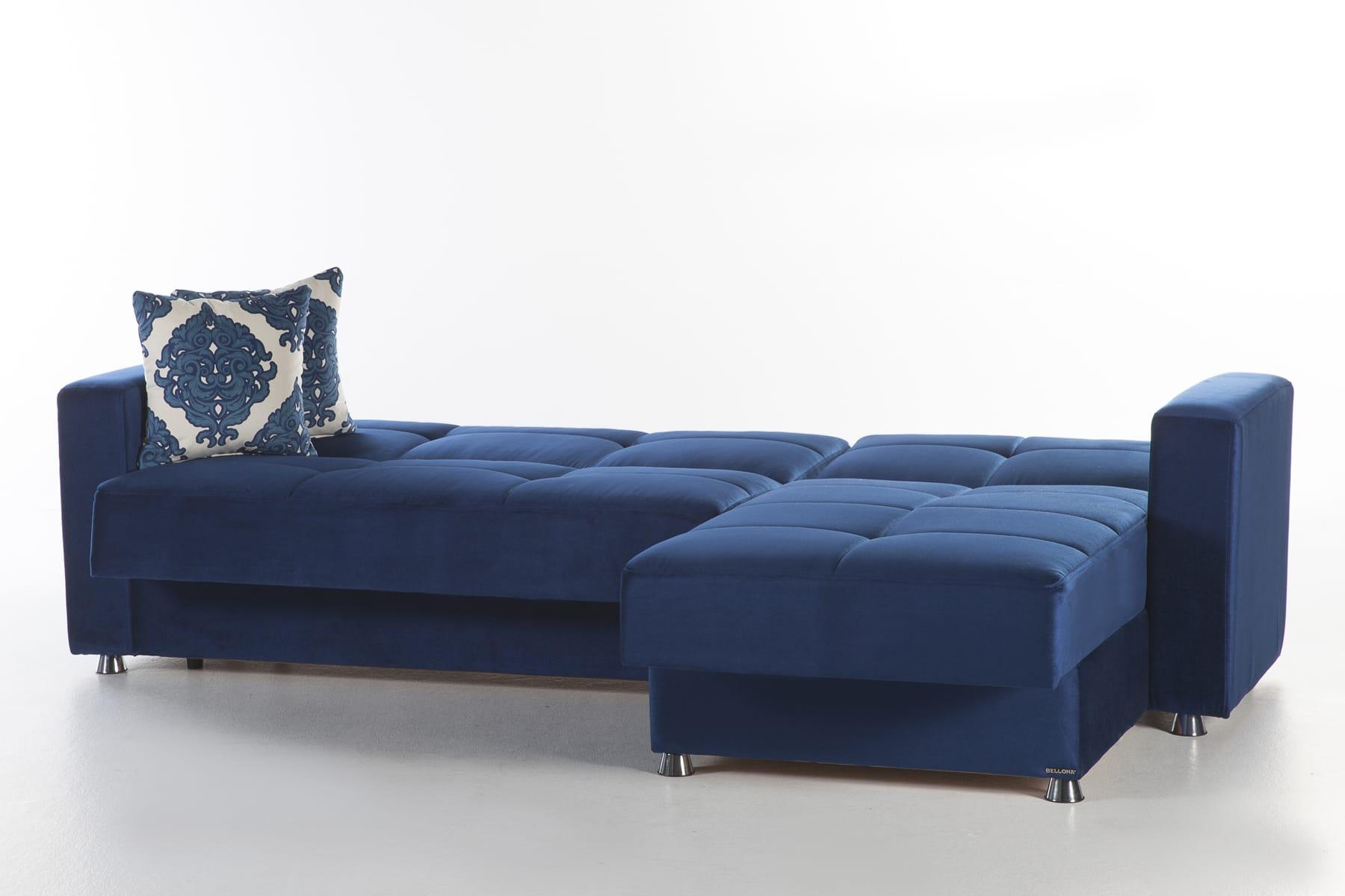 Elegant Roma Navy Sectional Sofa by Sunset
