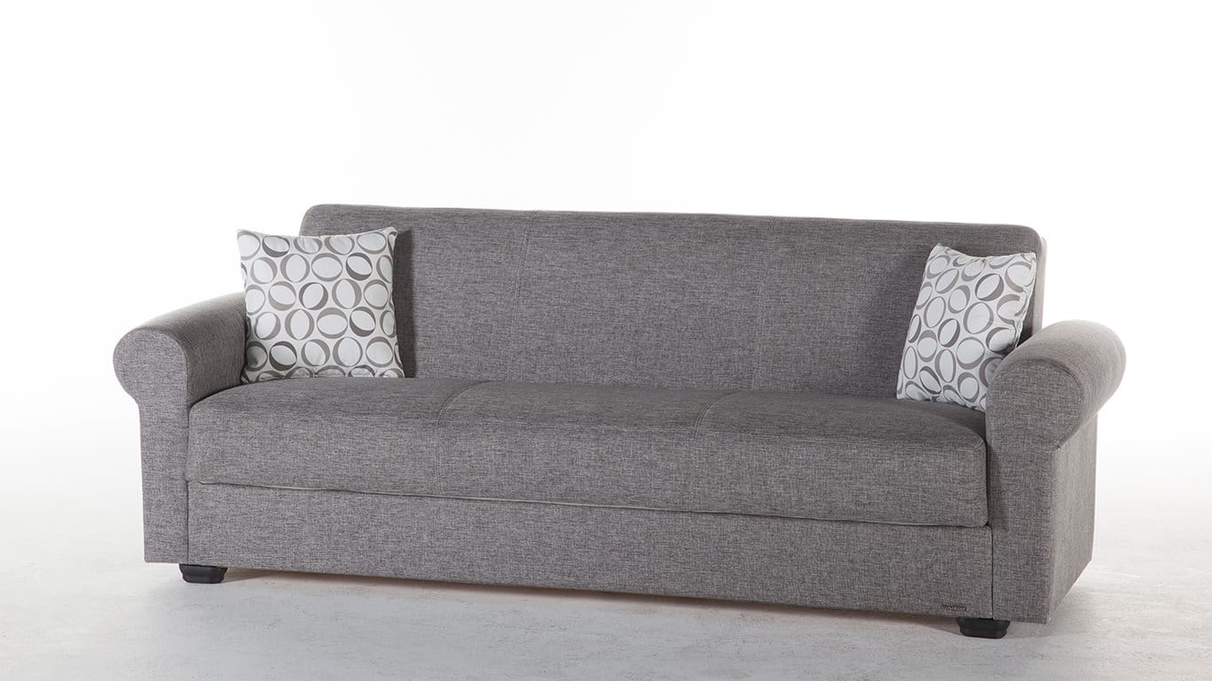 elita s diego grey convertible sofa bed by istikbal sunset rh futonland com istikbal sofa bed review istikbal sleeper sofa loveseat