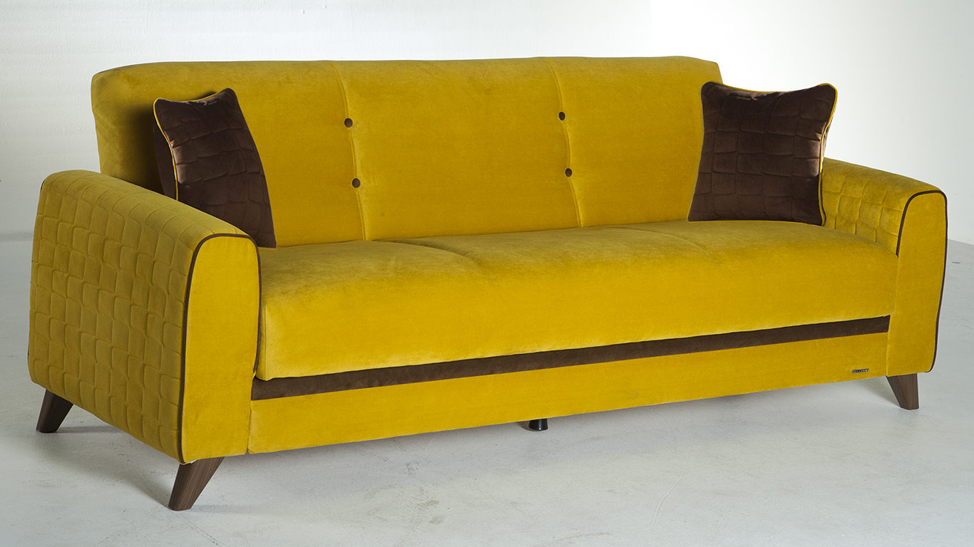 Fabio Lilyum Yellow Convertible Sofa Bed By Sunset