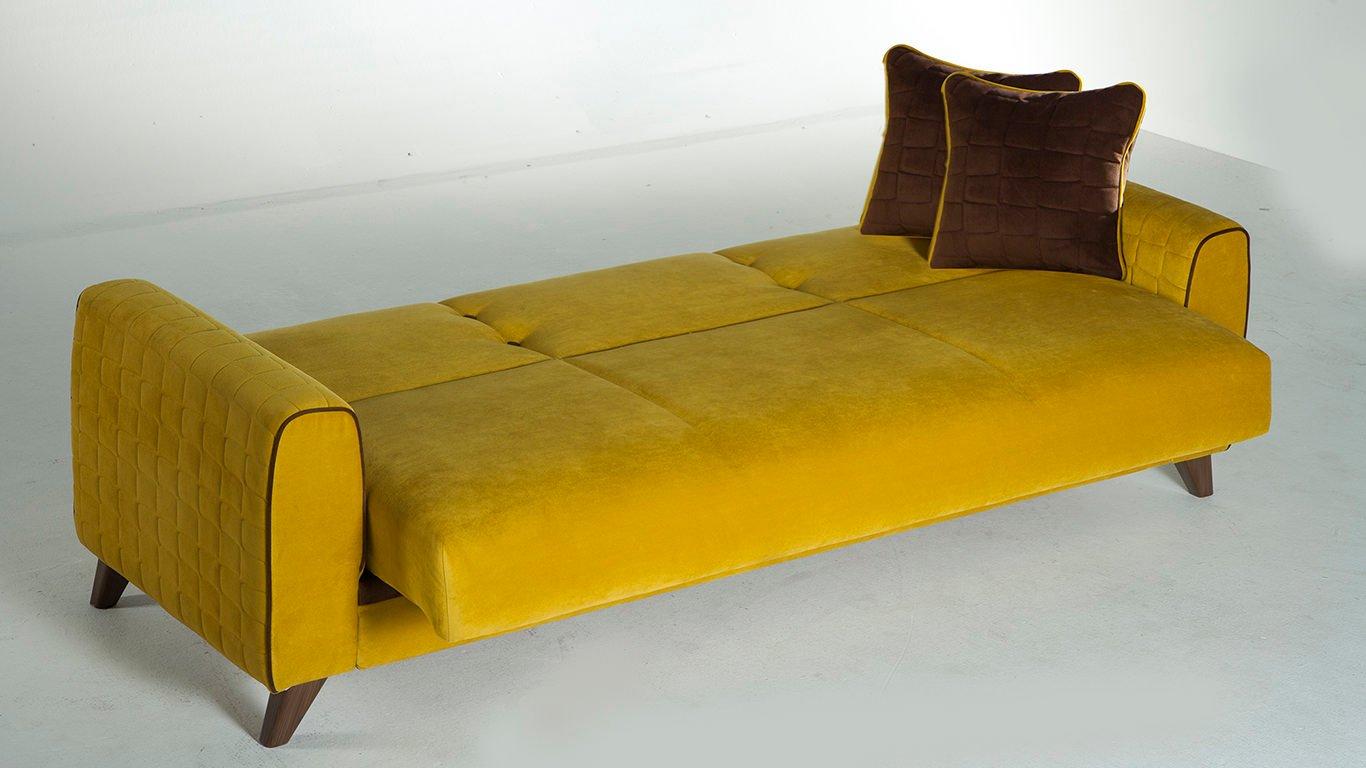 Fabio Lilyum Yellow Convertible Sofa Bed By Sunset