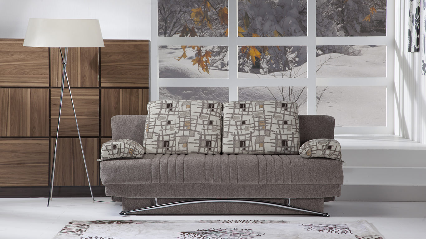 Fantasy Aristo Light Brown Convertible Sofa Bed By Istikbal Furniture
