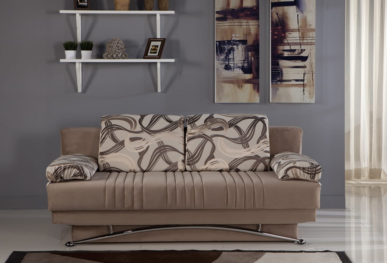Fantasy Best Vizon Convertible Sofa Bed By Istikbal Sunset