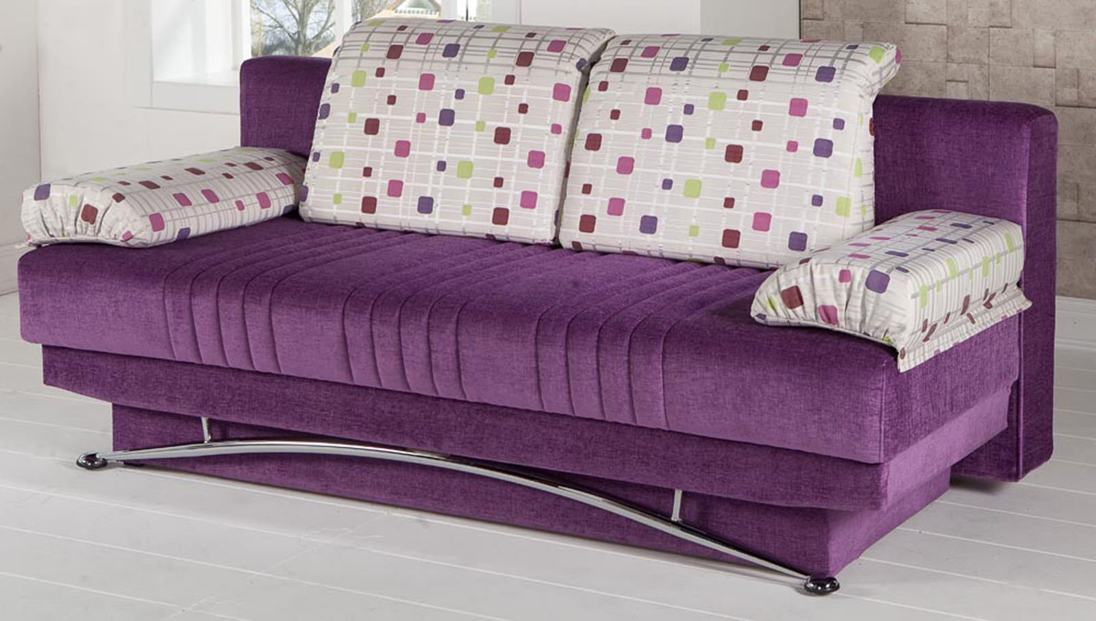 Fantasy Corbin Purple Convertible Sofa Bed By Istikbal