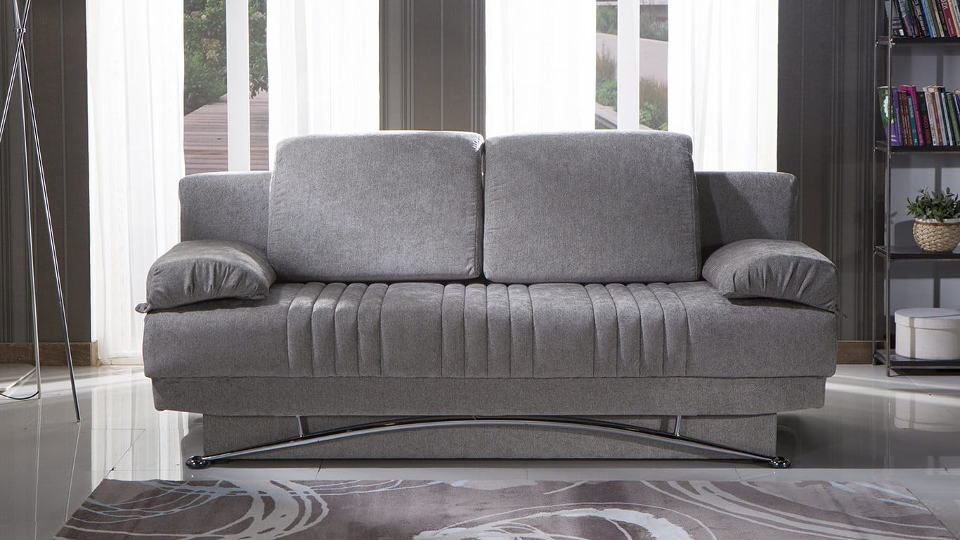 Fantasy Valencia Gray Convertible Sofa Bed By Istikbal Sunset