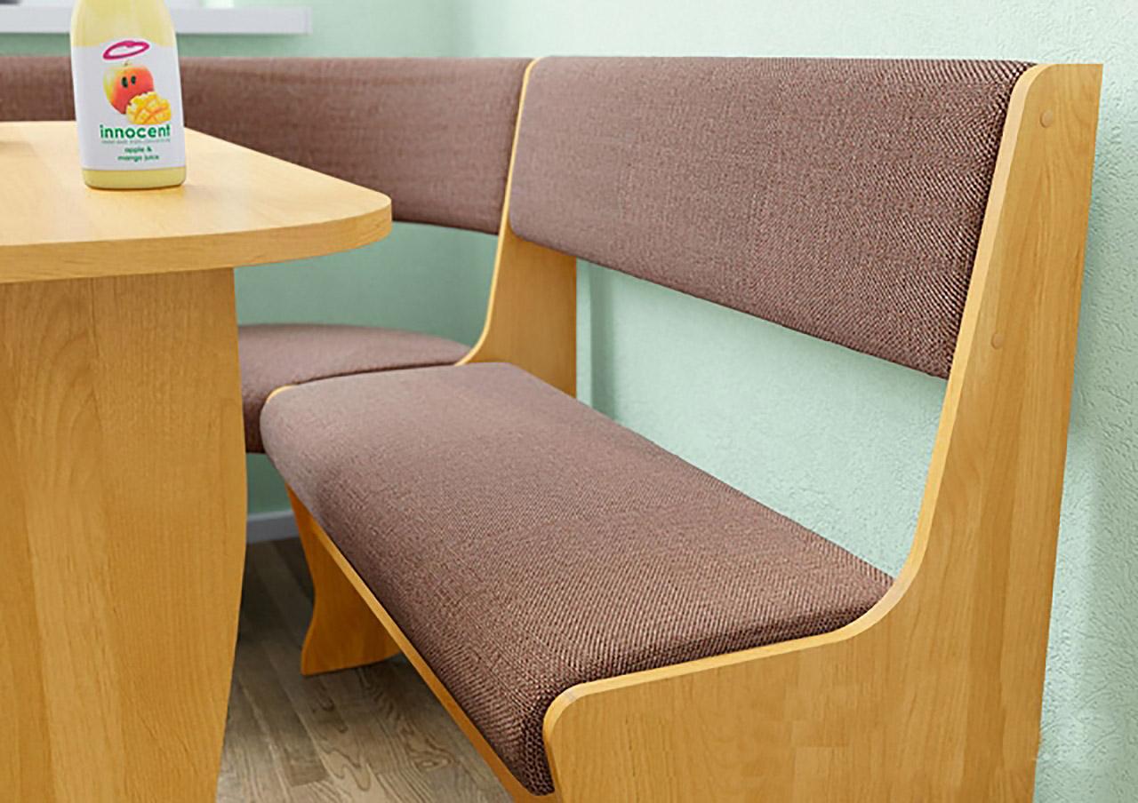 Fiji Alder/Cloth Cushinoned Seat Wall Unit by Ace Decore