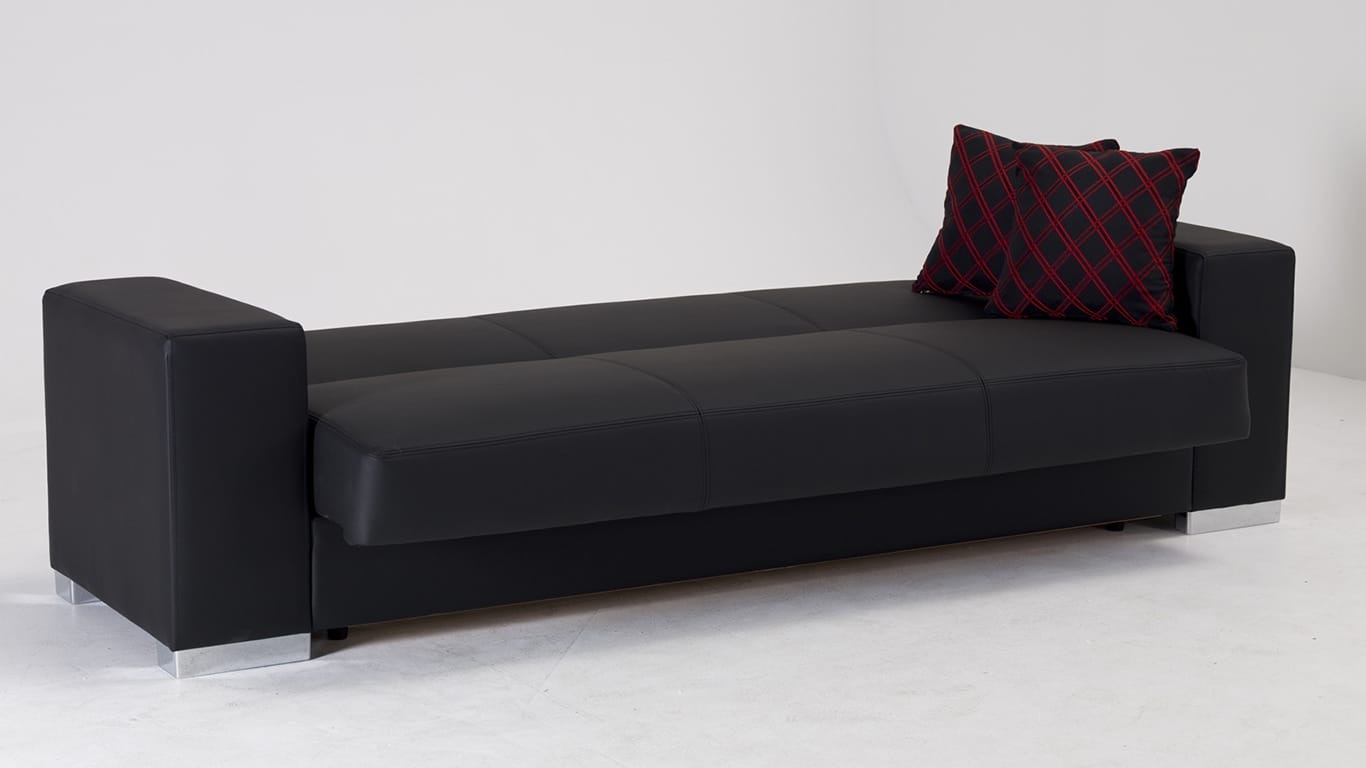 Kobe Santa Glory Black Convertible Sofa Bed by Sunset