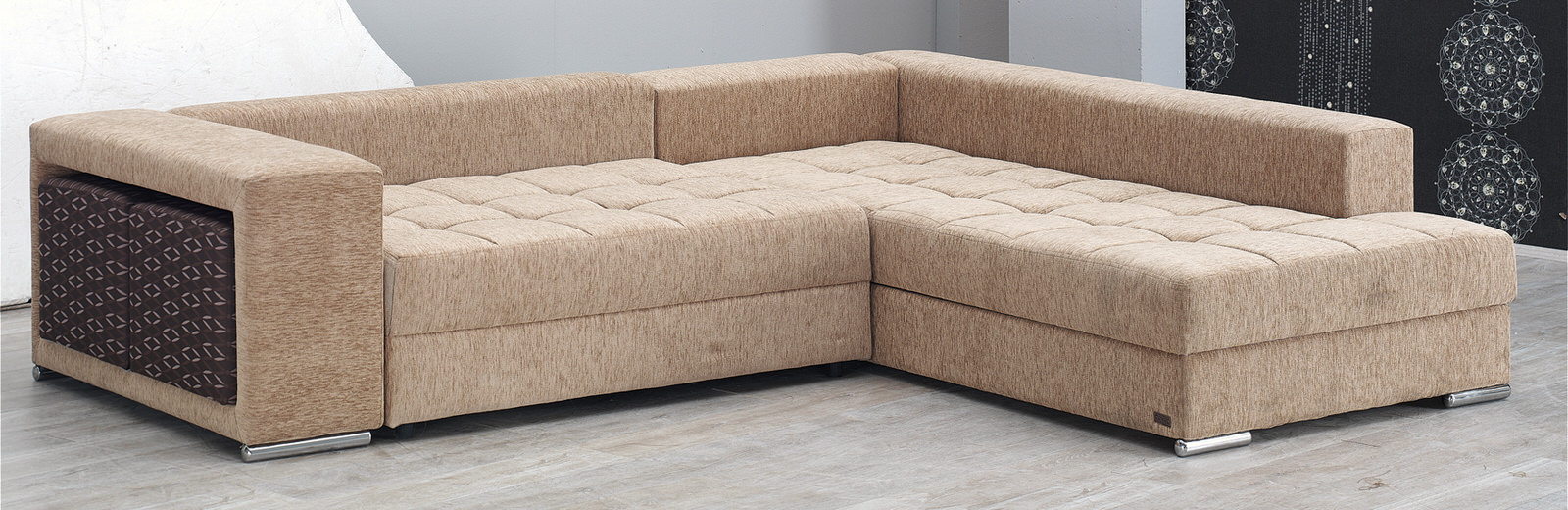 Los angeles sectional sofa set by empire furniture usa for Modern sectional sofa in los angeles