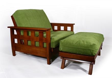 Lambton Warm Cherry Twin Chair Wall Hugger Futon Frame By Strata Furniture