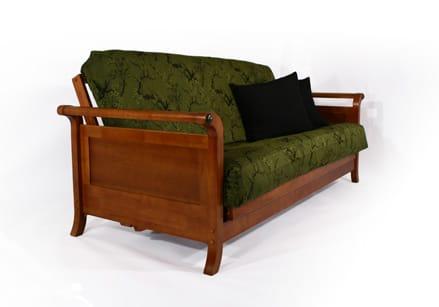 lexington warm cherry full wall hugger futon frame by strata furniture  rh   futonland