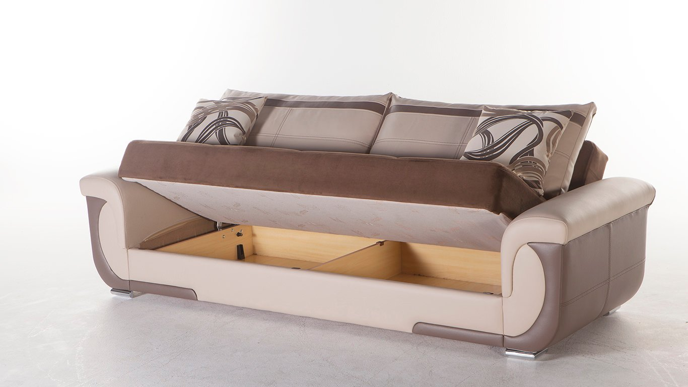 Lima S Best Brown Convertible Sofa Bed by Sunset