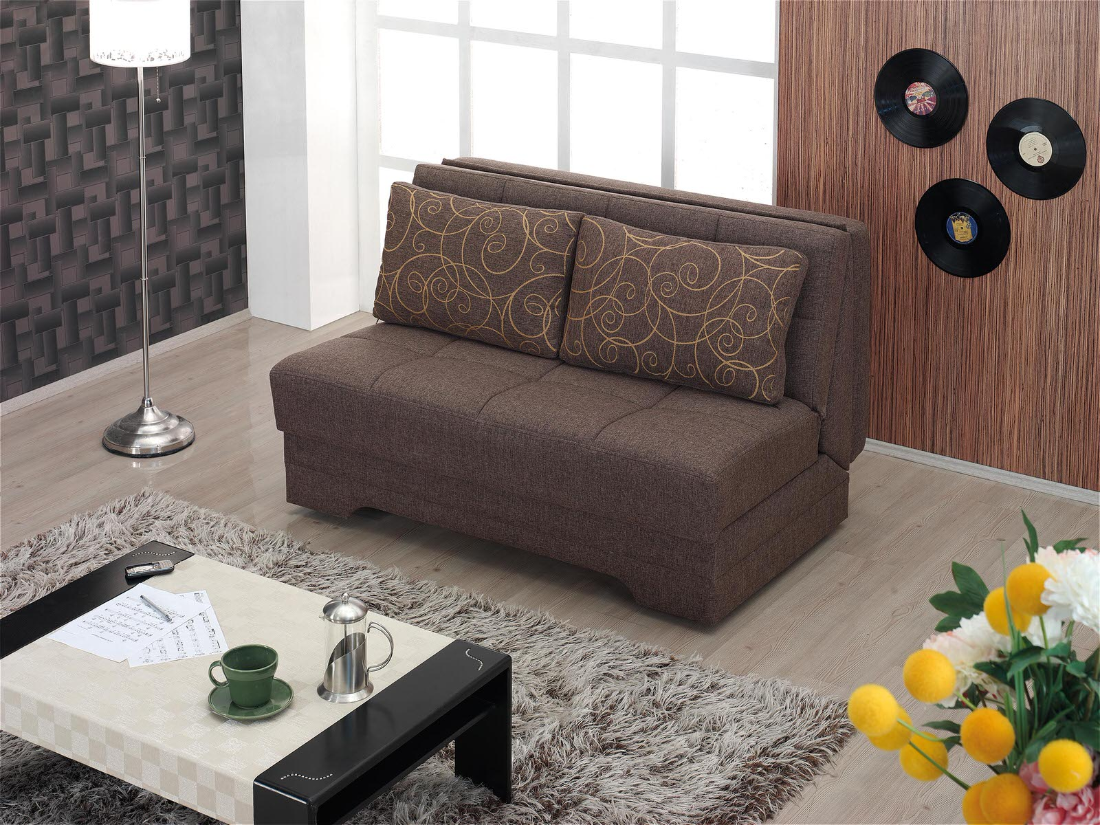 El paso twist brown loveseat sleeper by empire furniture usa Sofa mart el paso tx