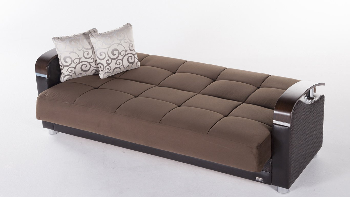 - Luna Naomi Brown Convertible Sofa Bed By Sunset