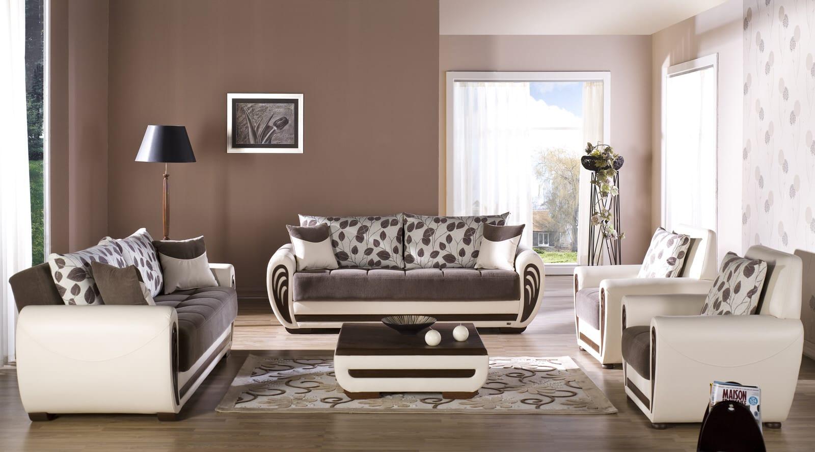 Marina Armoni Brown Sofa, Love & Chair Set by Istikbal Furniture