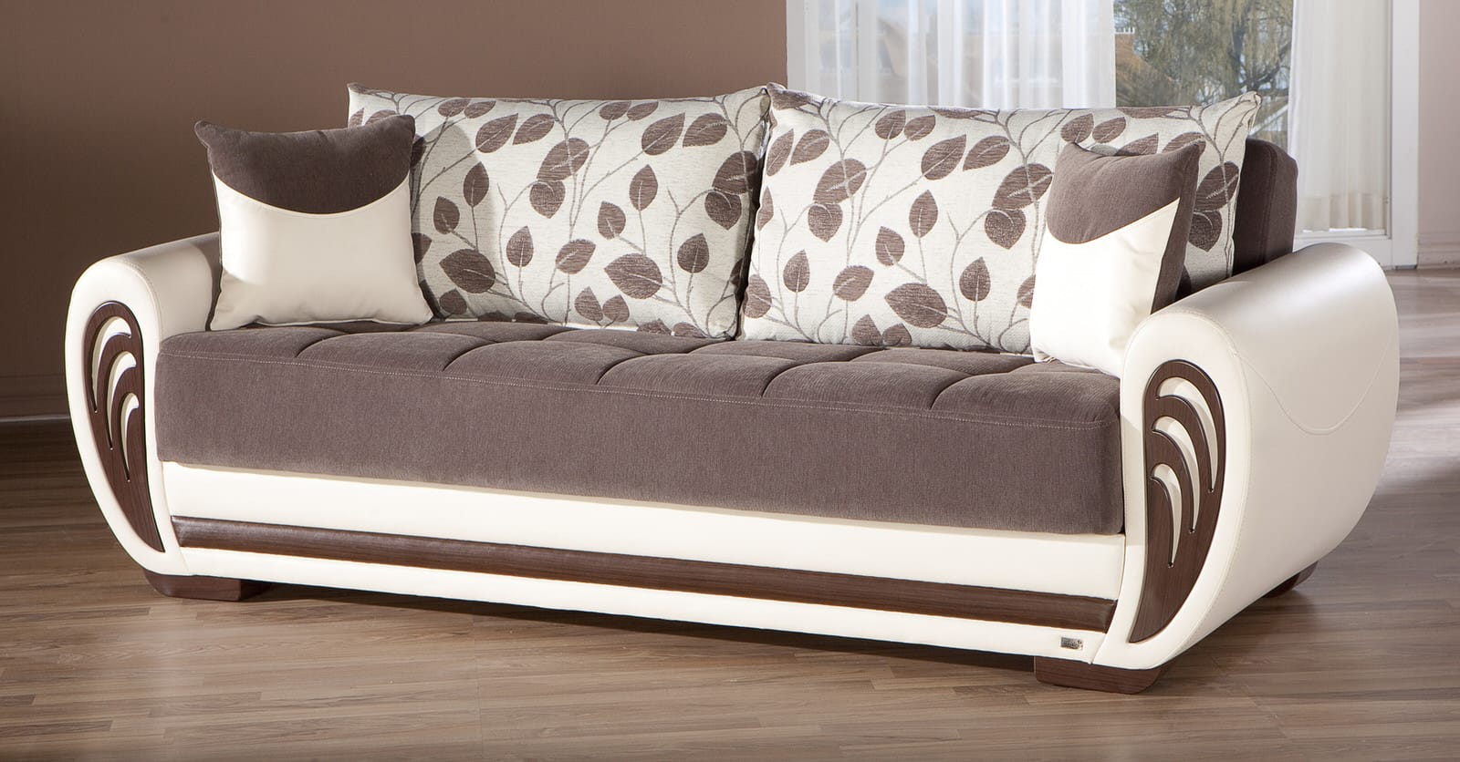 Marina Armoni Brown Convertible Sofa Bed By Istikbal Sunset