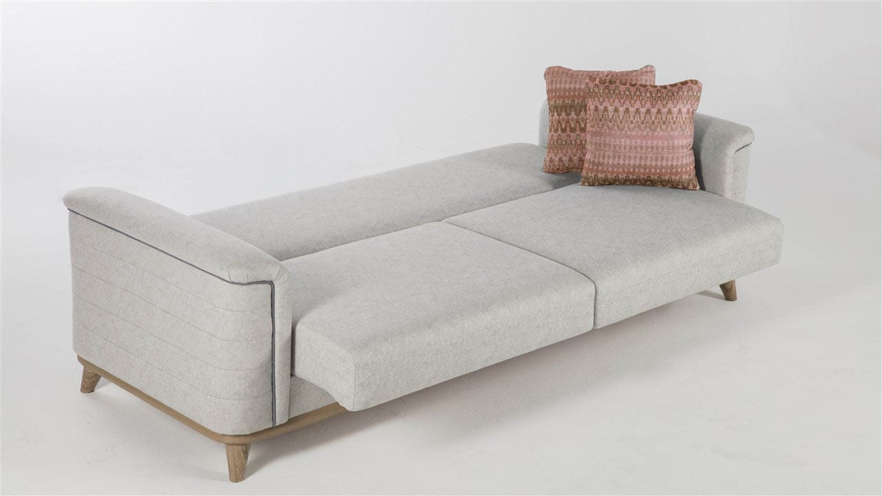 Floor Model Mavenna Carina Stone Zero Wall Convertible Sofa Bed By Istikbal Sunset