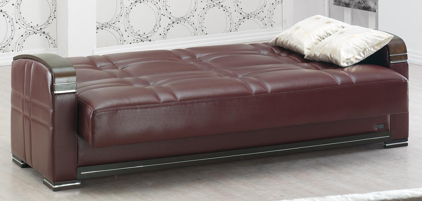 manhattan burgundy leather sofa bedempire furniture usa