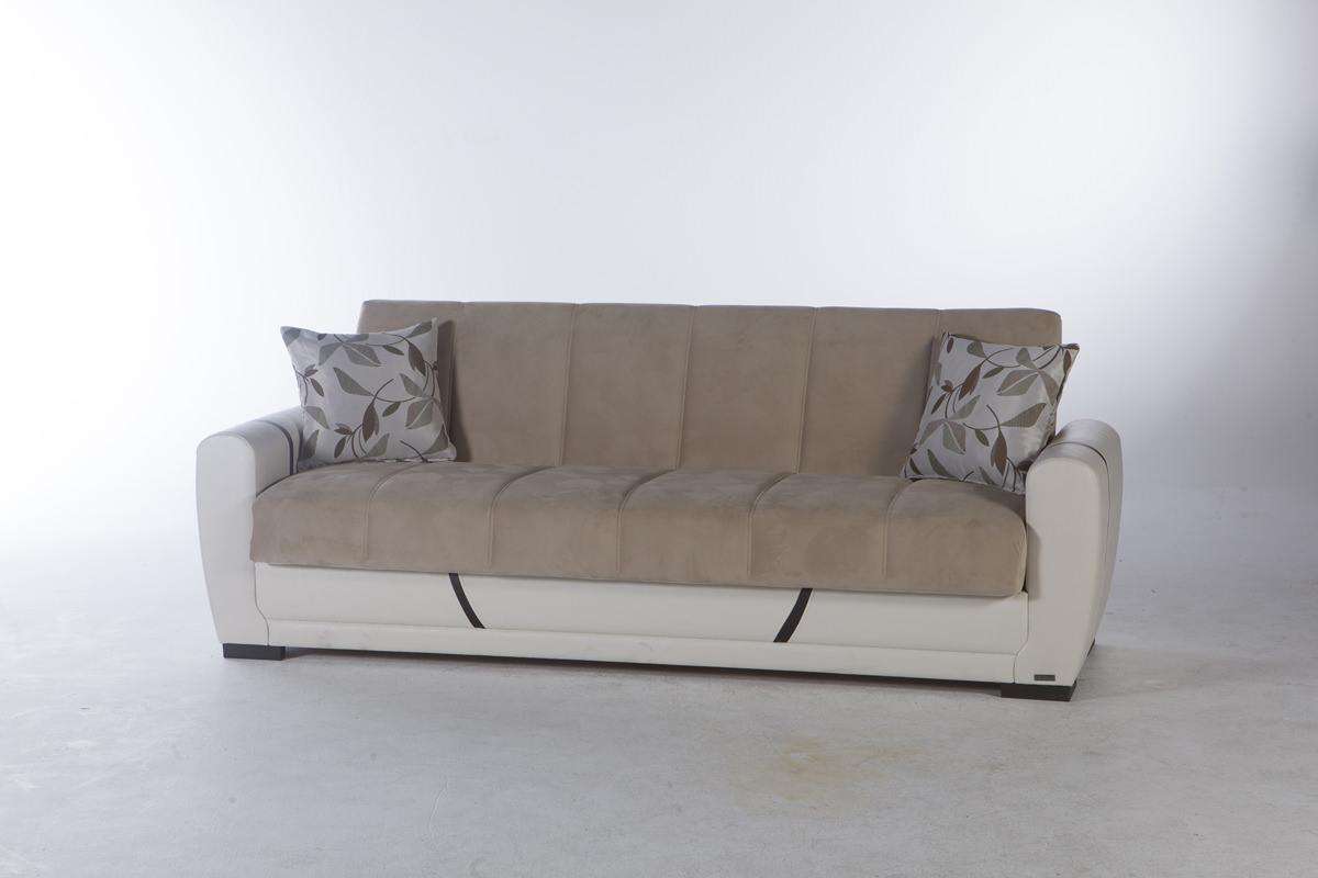Milas Arya Vizon Convertible Sofa Bed By Sunset