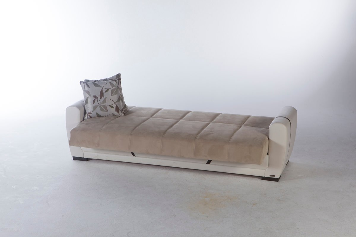 Milas Arya Vizon Convertible Sofa Bed by Sunset