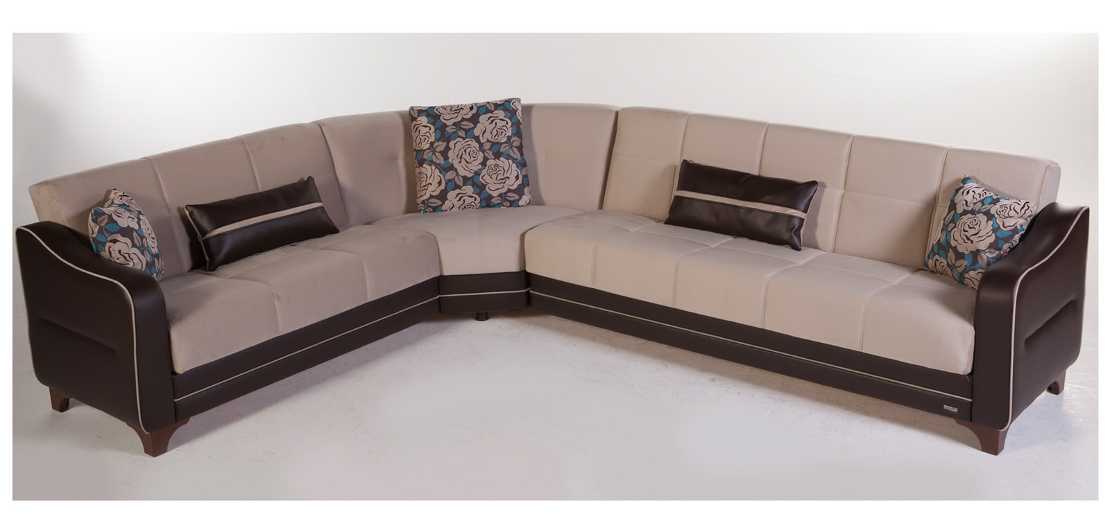 Minas orissa cream sectional sofa by sunset for Sectional sofa names