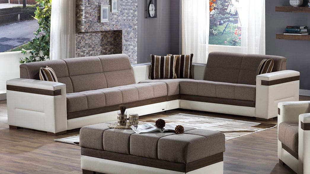 Moon Platin Mustard Sectional Sofa