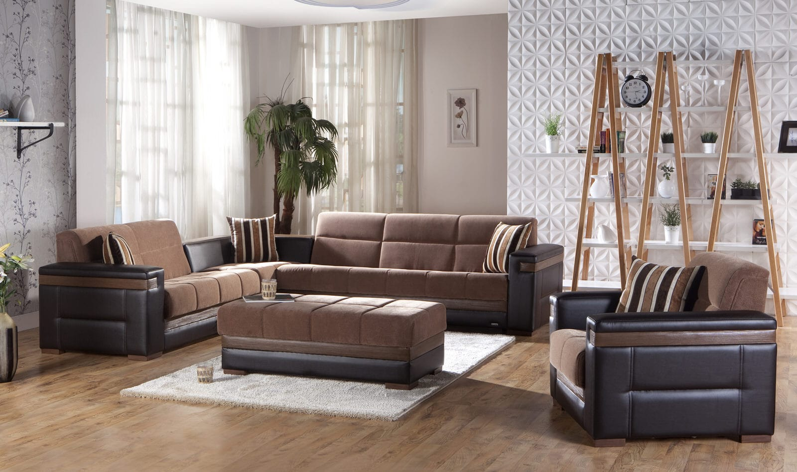 Istikbal Living Room Sets Moon Troya Brown Sectional Sofa By Sunset