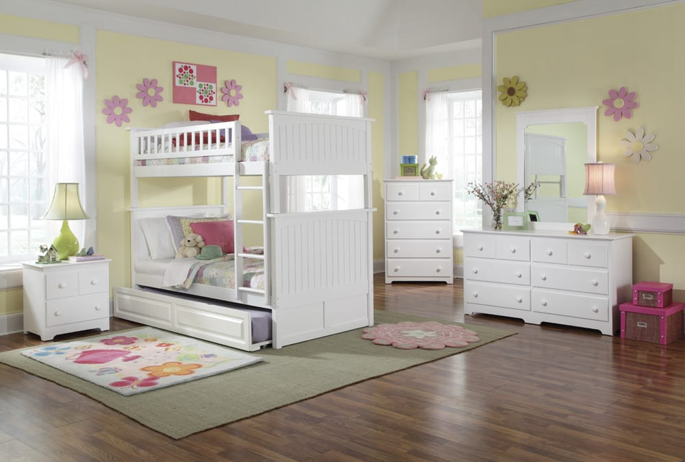 Nantucket Twin Over Full Bunk Bed In White