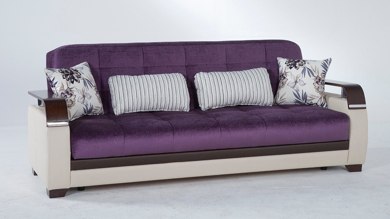 Natural prestige purple convertible sofa bed by sunset for Sofa bed name