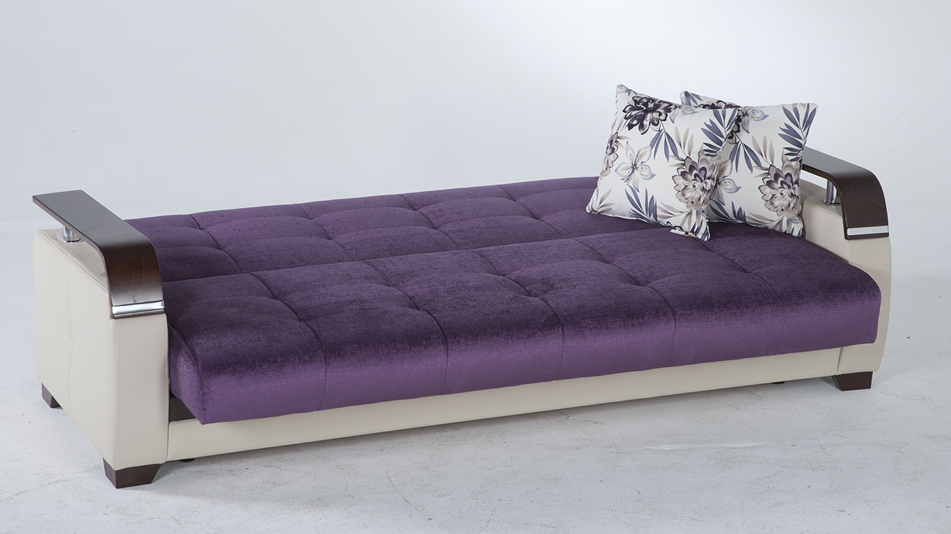 Natural Prestige Purple Convertible Sofa Bed By Sunset