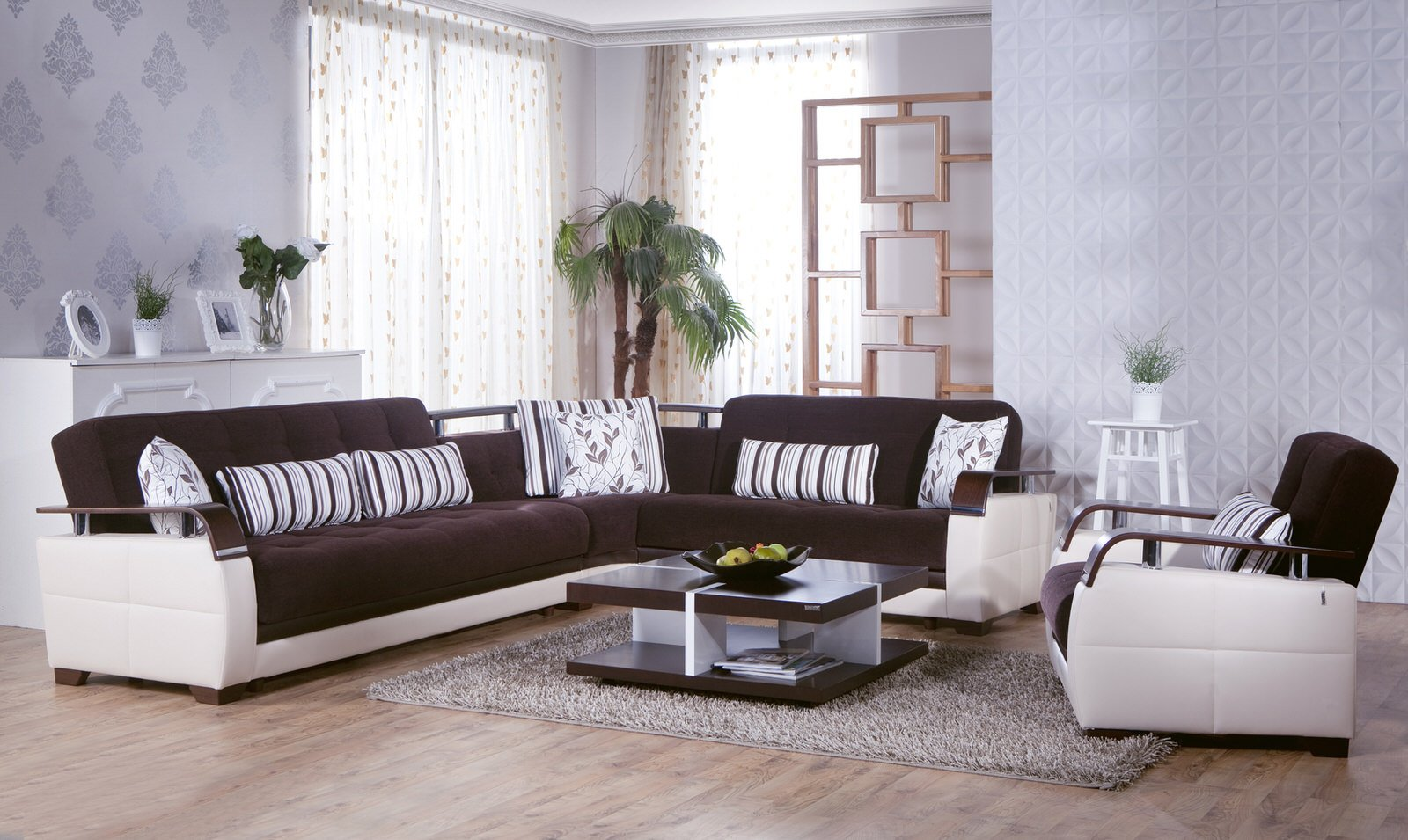 Natural Colins Brown Sectional Sofa By Istikbal Furniture