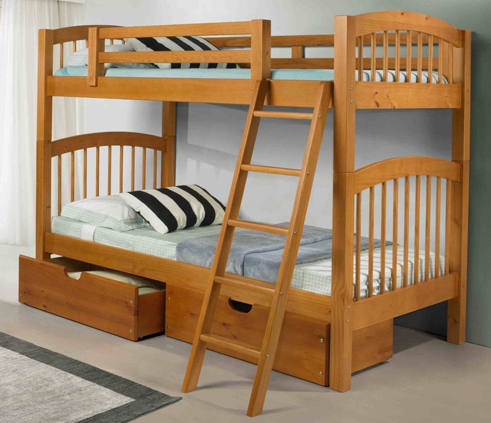 Phoenix Bunk Bed Pecan By Innovations