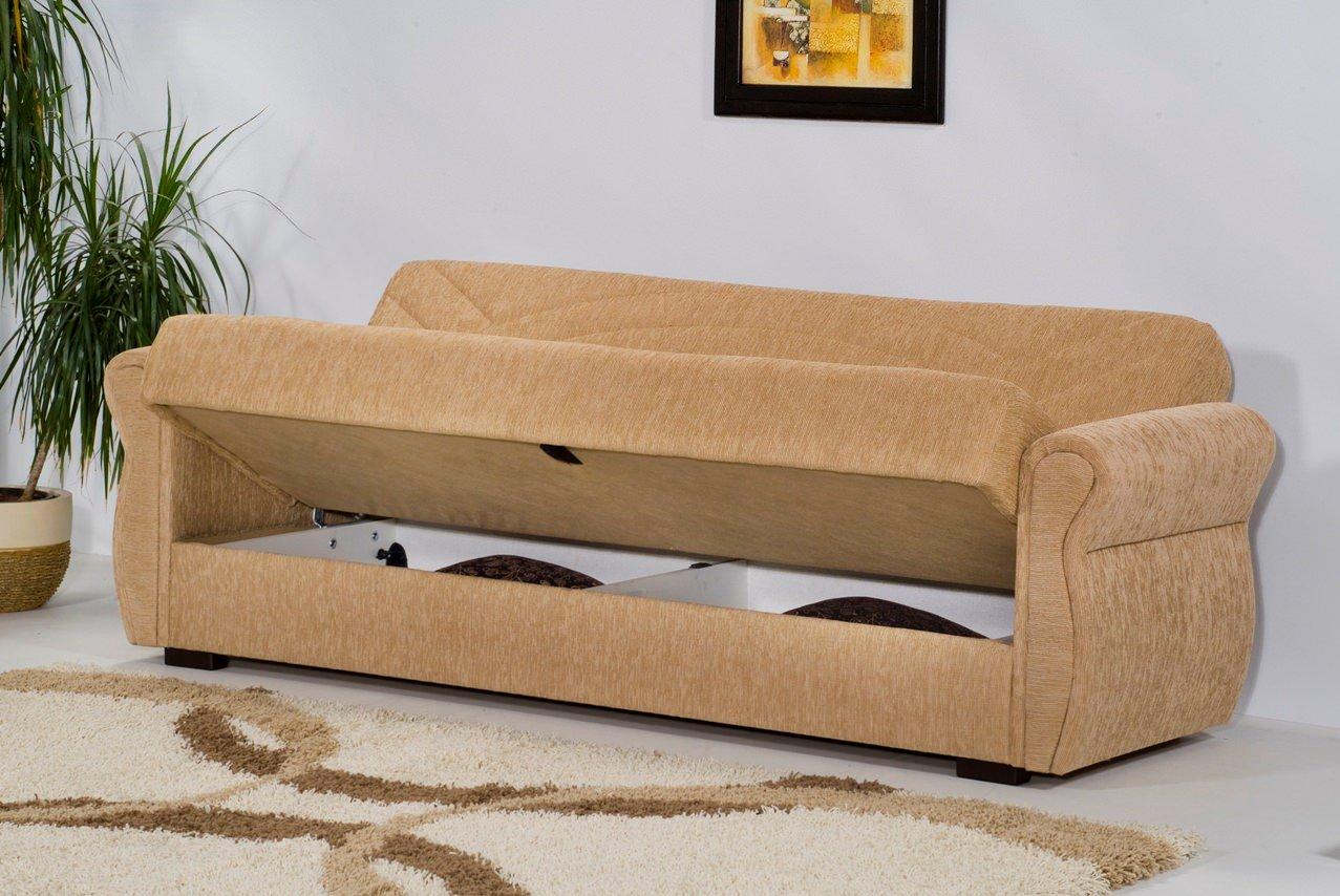 Rain chenille mimoza beige sofa bed by kilim for Sofa bed name