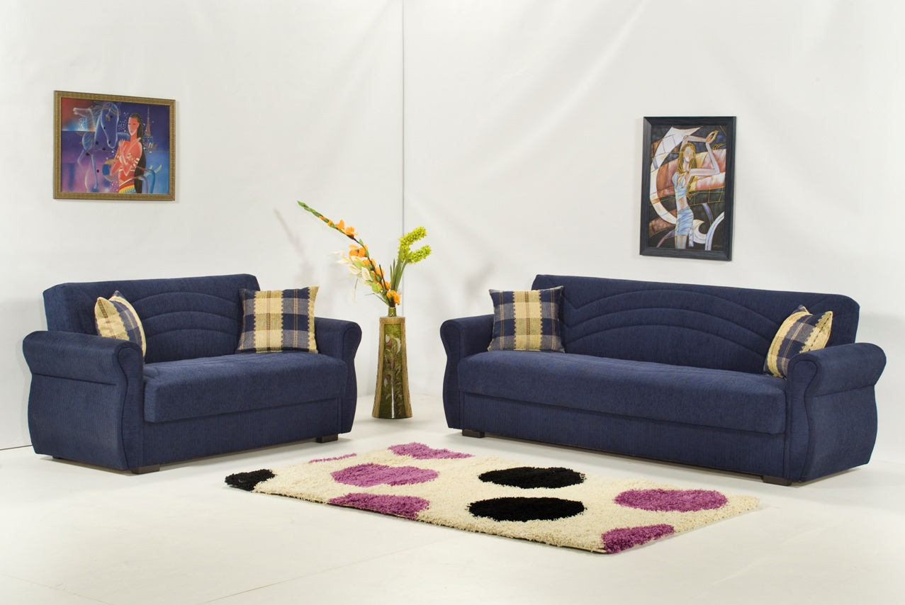 new photos of blue sofa bed
