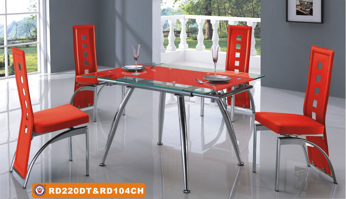 Floor Sample Dining Chair 104 Red Set Of 4 By American