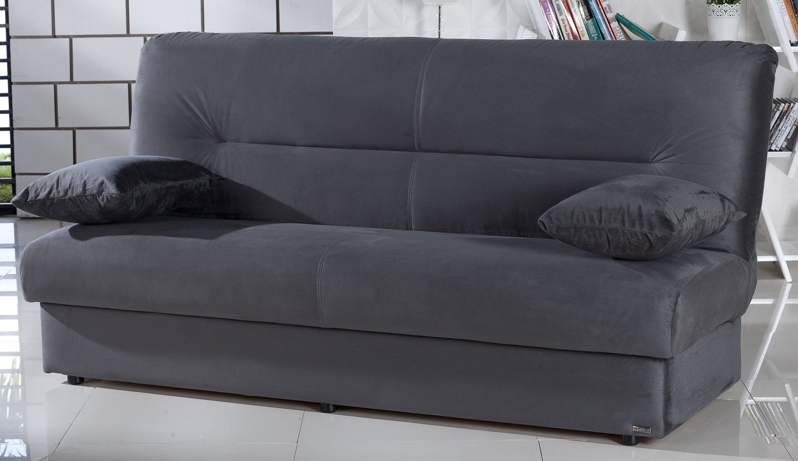 Regata Rainbow Dark Gray Convertible Sofa Bed By Sunset