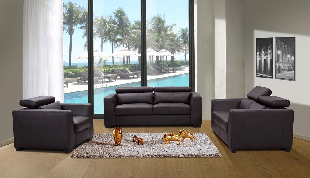 Shanghai Chocolate Brown Sofa Loveseat Set By J M Furniture