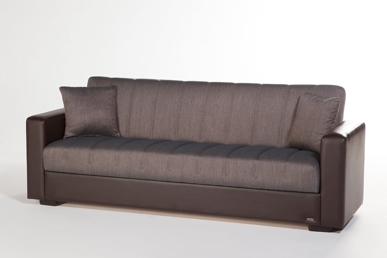 Sidney Bolzoni Brown Convertible Sofa Bed by Istikbal Furniture