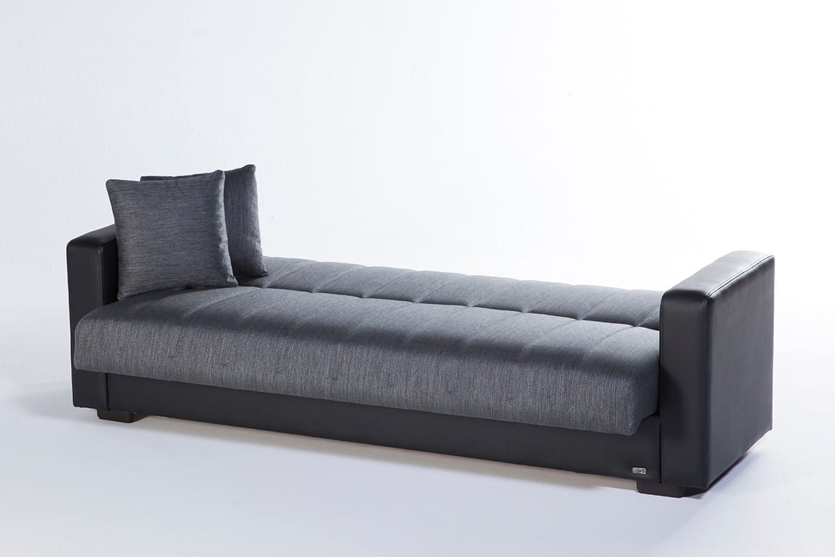 Sidney Bolzoni Gray Convertible Sofa Bed By Istikbal Furniture