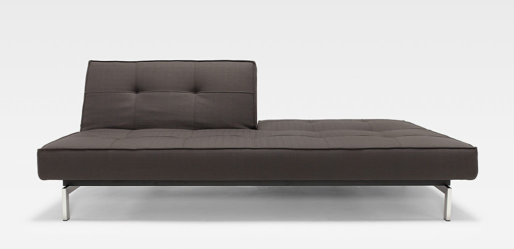 Splitback Deluxe Sofa Dark Grey by Innovation