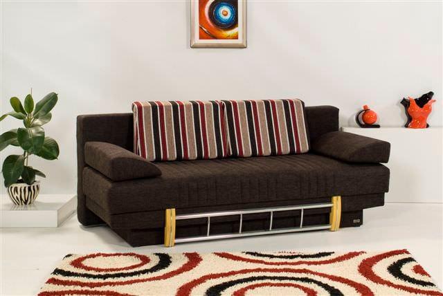 Spring lenda black sofa bed by kilim for Spring sofa bed