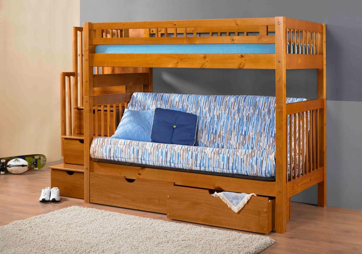 Stairway Bunk Bed Pecan By Innovations