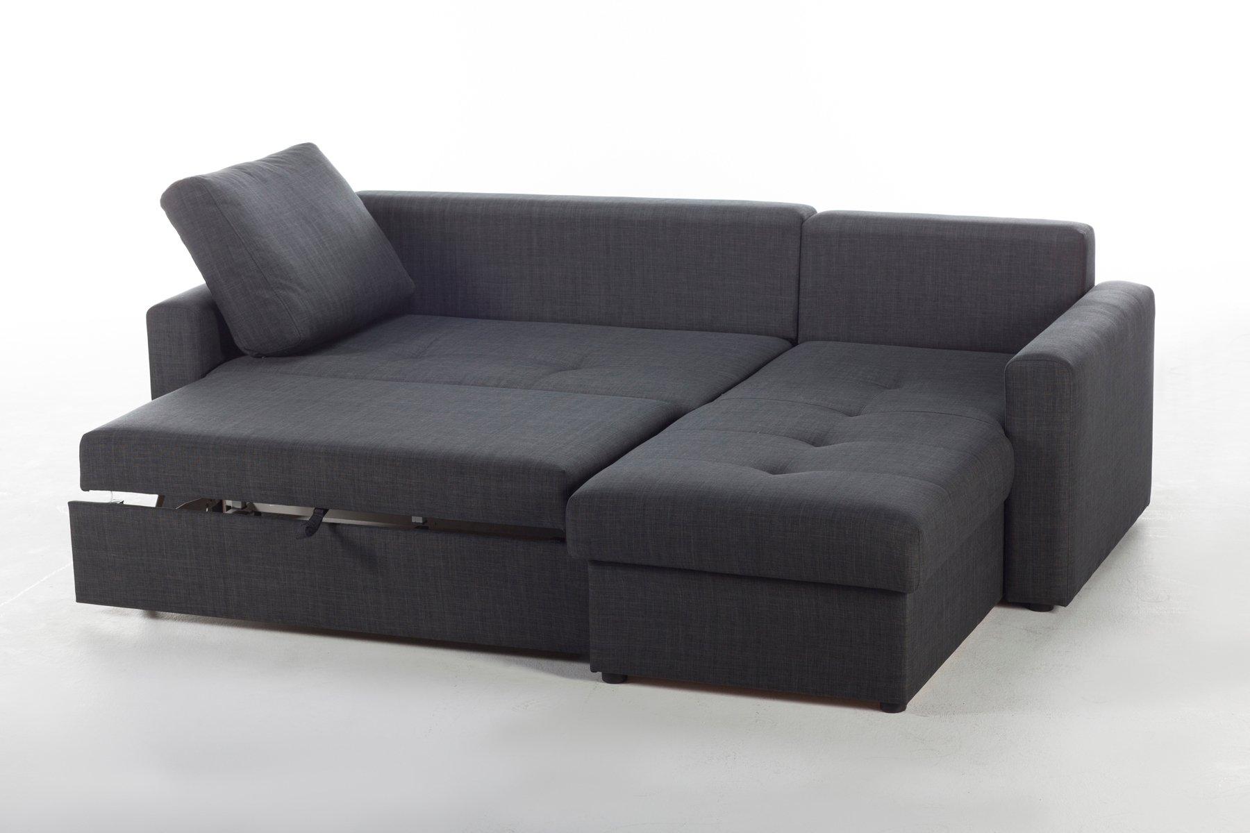 Fethiye Dark Grey Fabric Sectional Sofa by Sunset