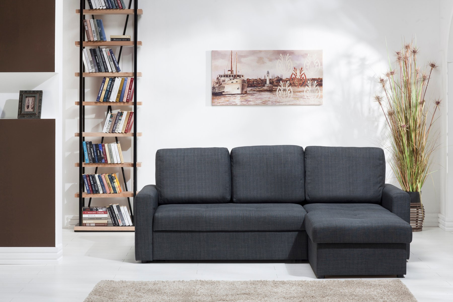 piece gray ashley fabric belcastel width sectional by height item threshold products with right benchcraft trim chaise