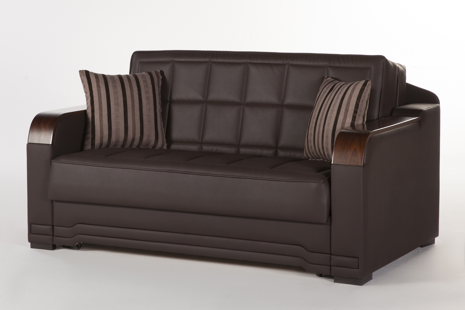 Willow dark brown loveseat sleeper by sunset Bed divan