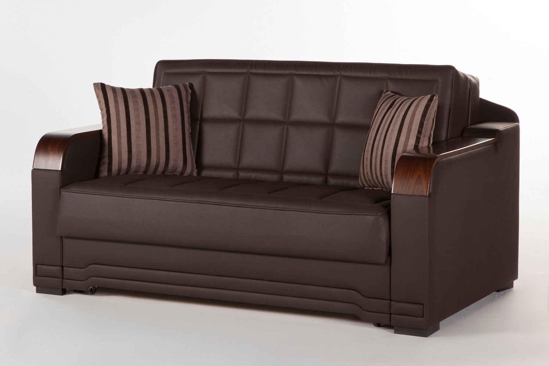 Willow dark brown loveseat sleeper by sunset for Sofa bed 91762